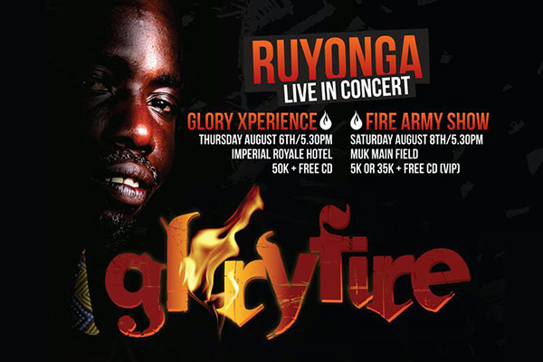 Ruyonga all set for the Glory Fire experience.