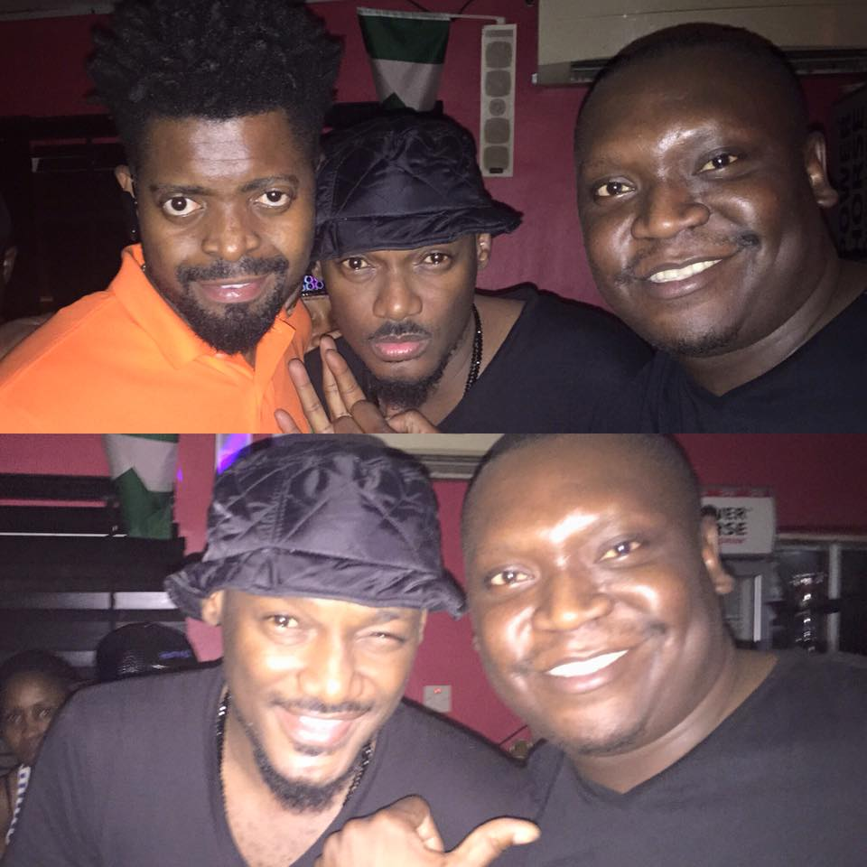 Patrick Salvado with Basket Mouth and 2face