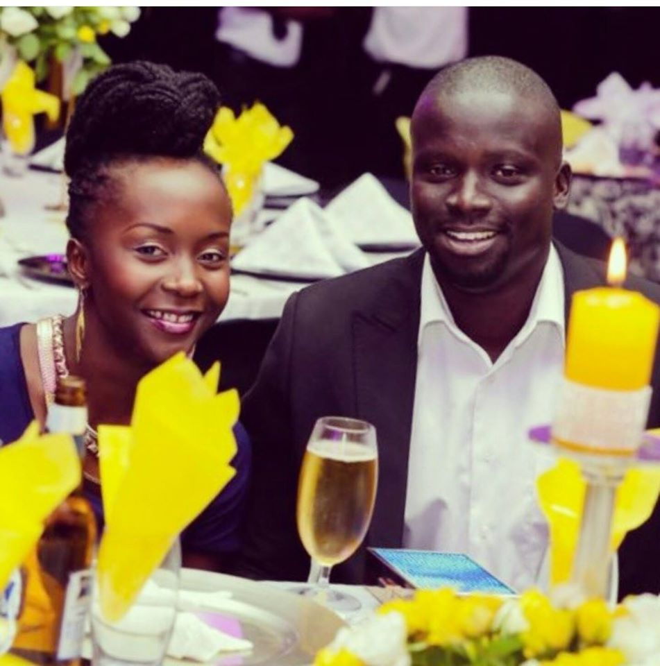 Anne Kansiime with the love of her life Ojok