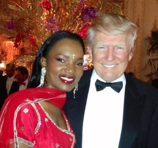 Barbara Kimbugye with Donald Trump