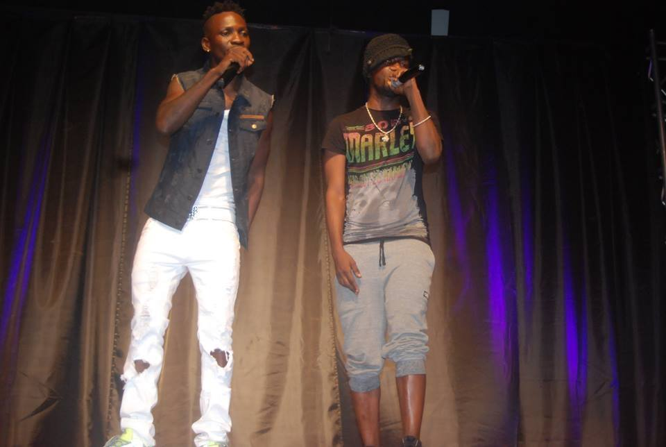 Bobi Wine and Nubian Lee perform at Kapale's show.