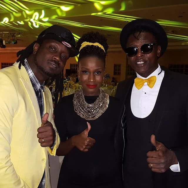 Bebe Cool, Juliana and Jose Chameleone at the event