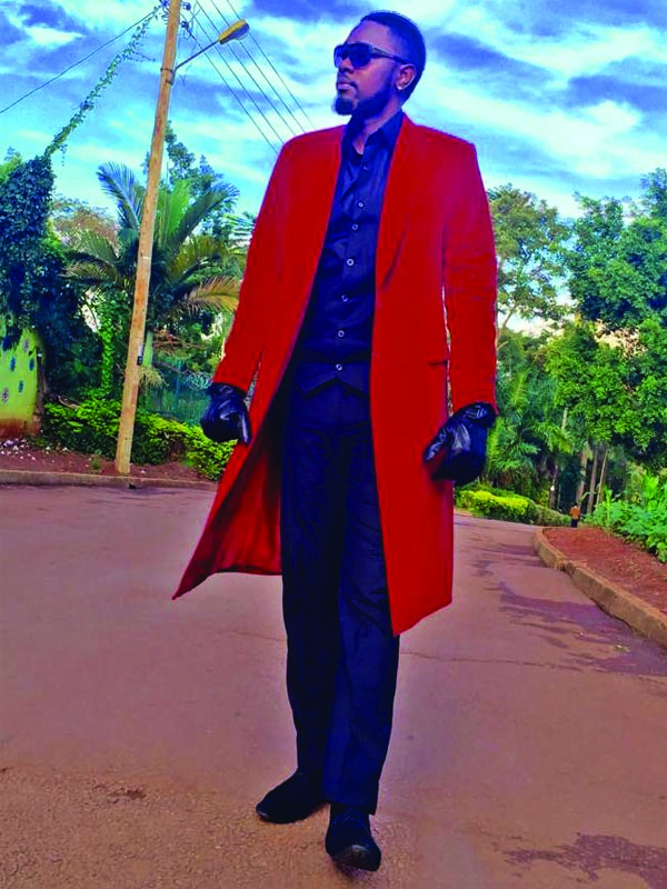 Gareth Onyango in an attire by Paple Rayn