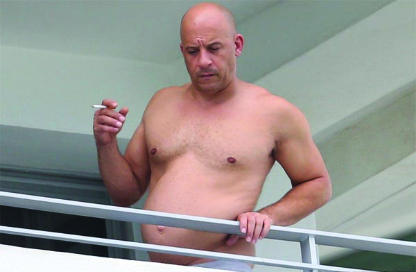 This picture of Vin Diesel appeared online.