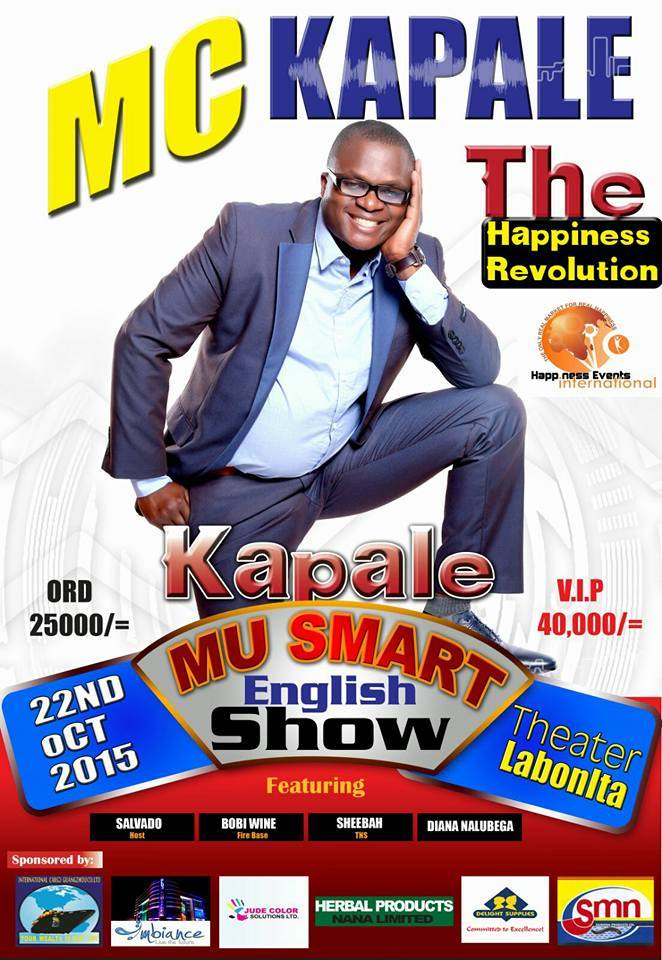 Mc Kapale all set for his one man show