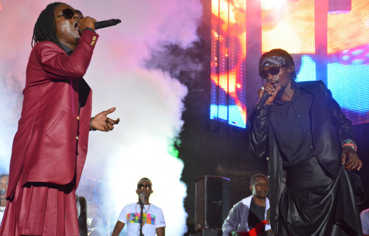 Radio and Weasel perform at the Neera concert