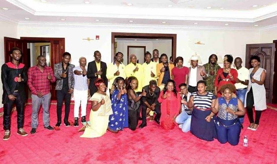 More artistes pledge allegiance to Museveni