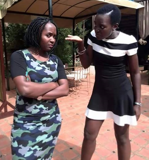 Anne Kansiime goofs around with Lupita Nyong'o