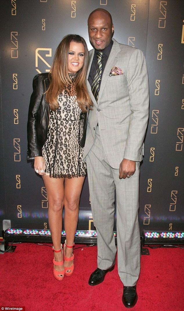 Khloe Kardashian with her estranged husband Lamar Odom