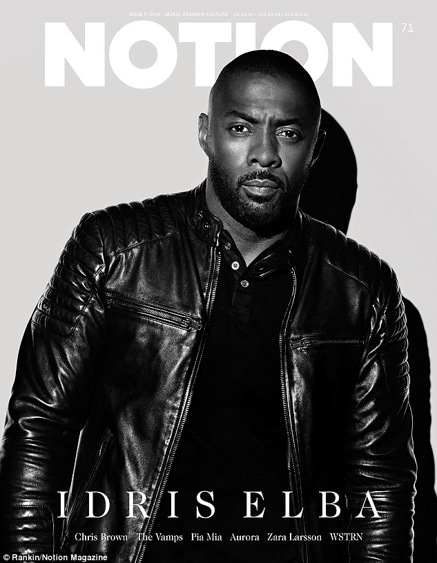 Idris Elba graces the cover of Notion Magazine