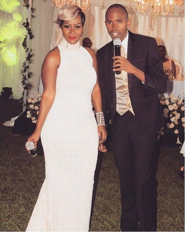 Alex Muhangi with Desire Luzinda at the event in Rwanda