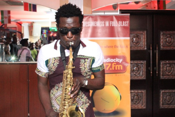 Joseph Sax showcased his amazing skills with the saxophone