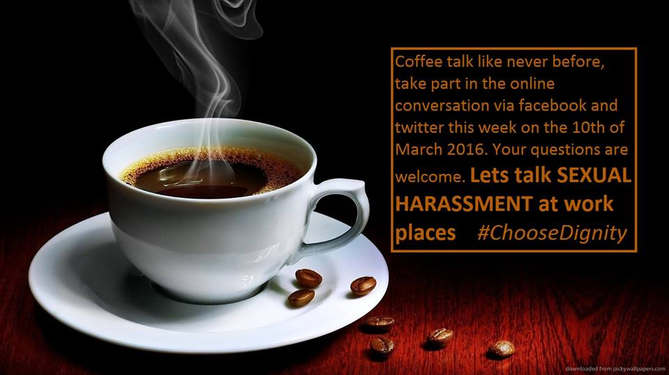 the Girls coffee talk will be about sexual harrassment