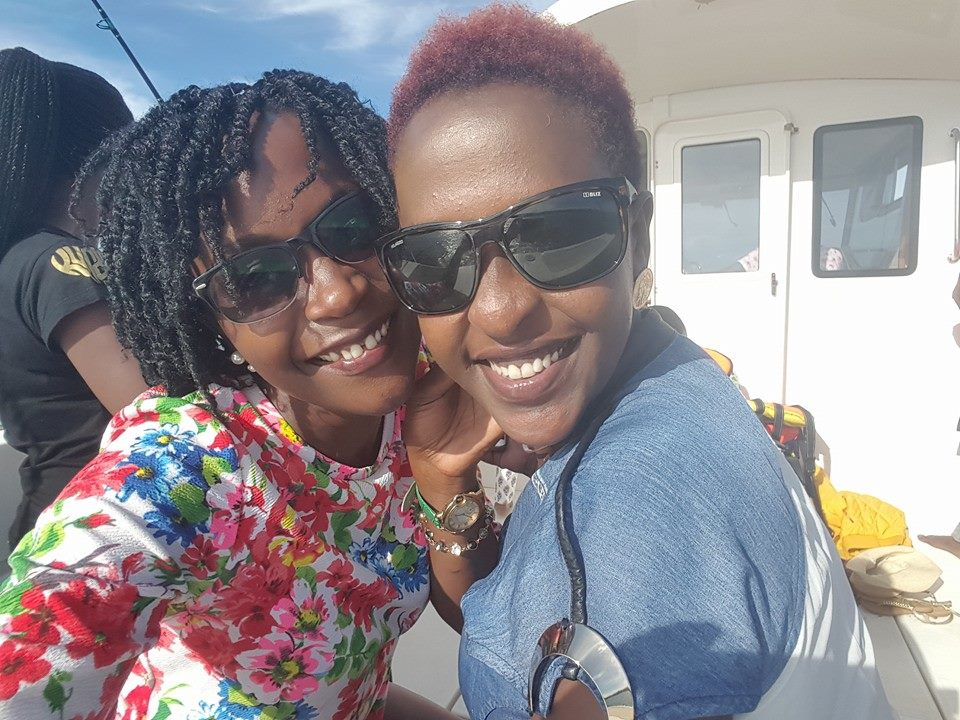 Selfie moment: Kansiime and Lillian Mbabazi smile for the camera