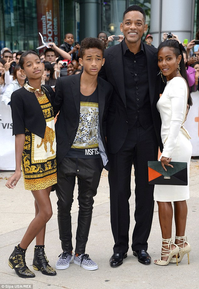 Will Smith With His Wife Jada Pinkett And Children Willow Jaden