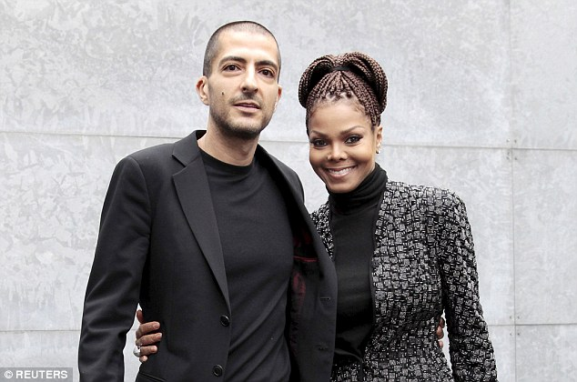 Janet Jackson with her husband Al Mana