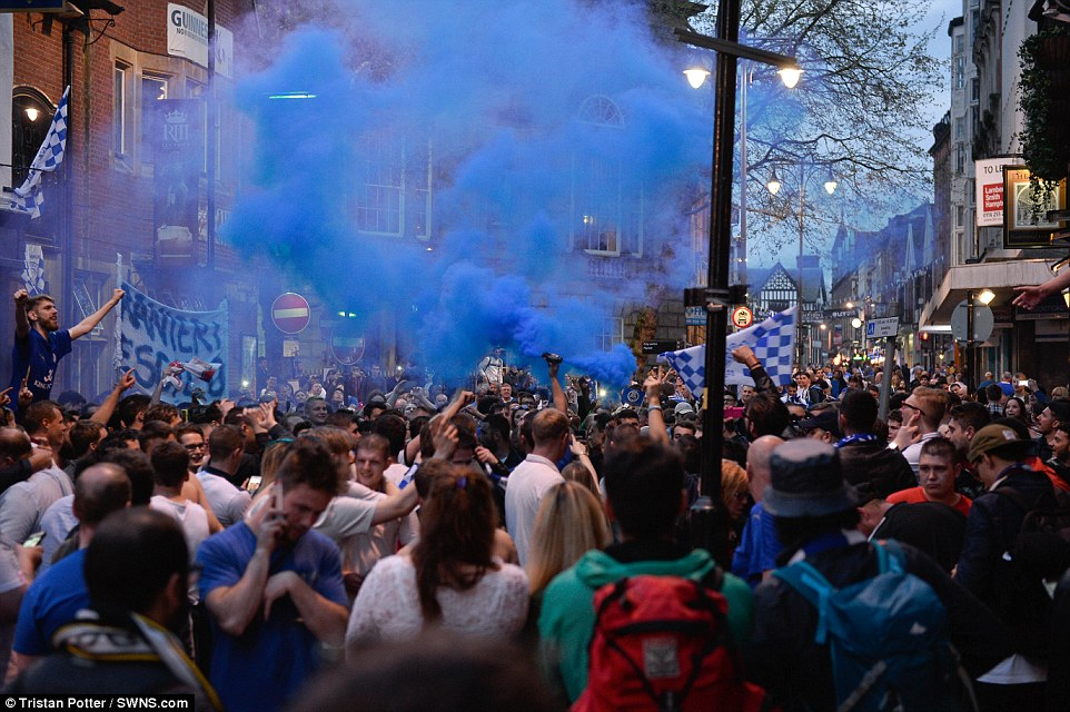 It was a party in Leicester city until the morning hours