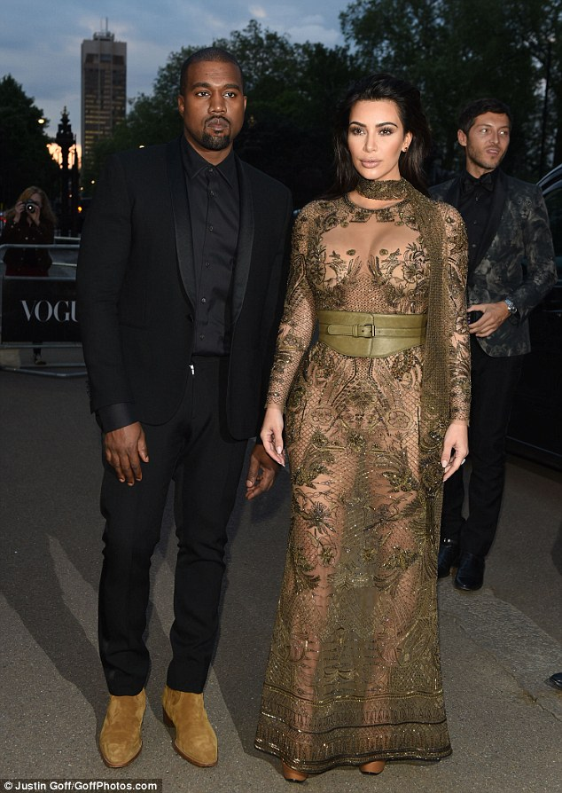 Kanye West and Kim Kardashian were in UK for the vogue 100 dinner