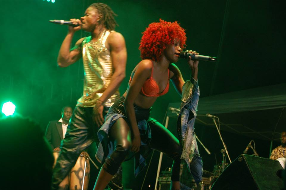 The good old days: Pallaso performs on stage with Sheebah