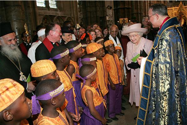 African Children's choir meet the queen of England