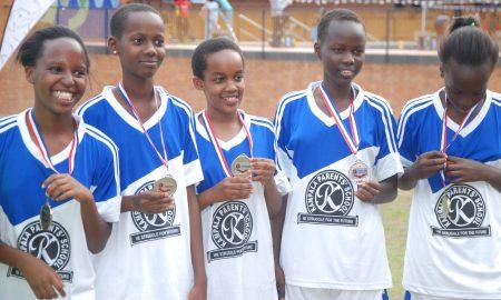 Kampala Parents School Pupils show off their medals