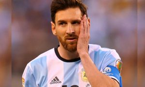 Messi trying