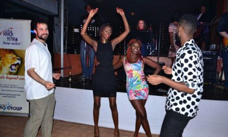 Judith Heard and Dj Bad Cat took to the dancefloor