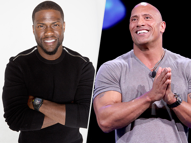 """Kevin Hart recently released the central intelligence movie which stars the Rock """"Dwayne Johnson"""""""