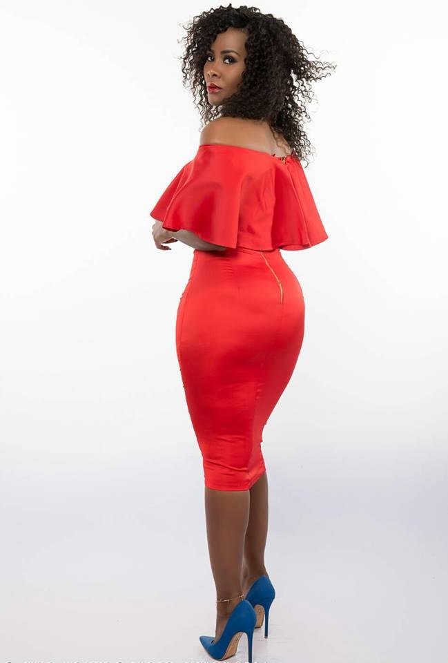 Desire Luzinda dazzles in a red dress