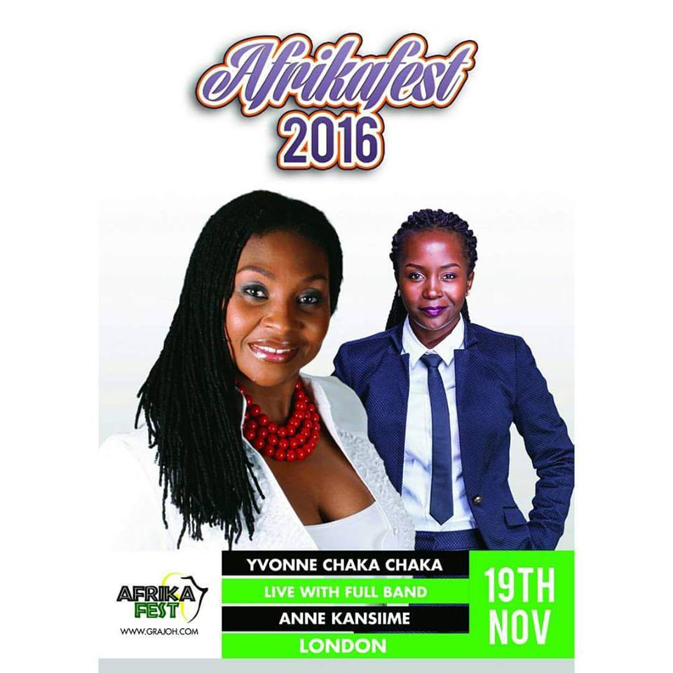 Kansiime Anne will headline the Afrikafest event with Yvonne Chakachaka