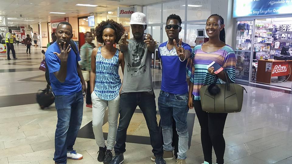 Bobi Wine departs for Boston