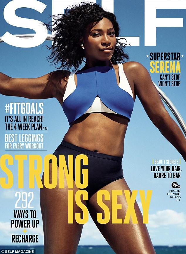 Serena Williams graces the cover of self magazine