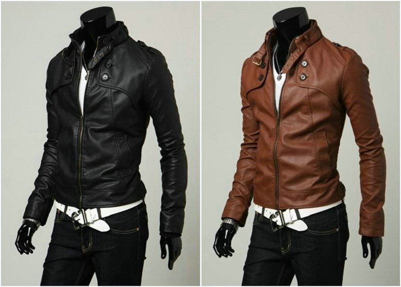 Designer Mens Leather Jackets - Coat Nj