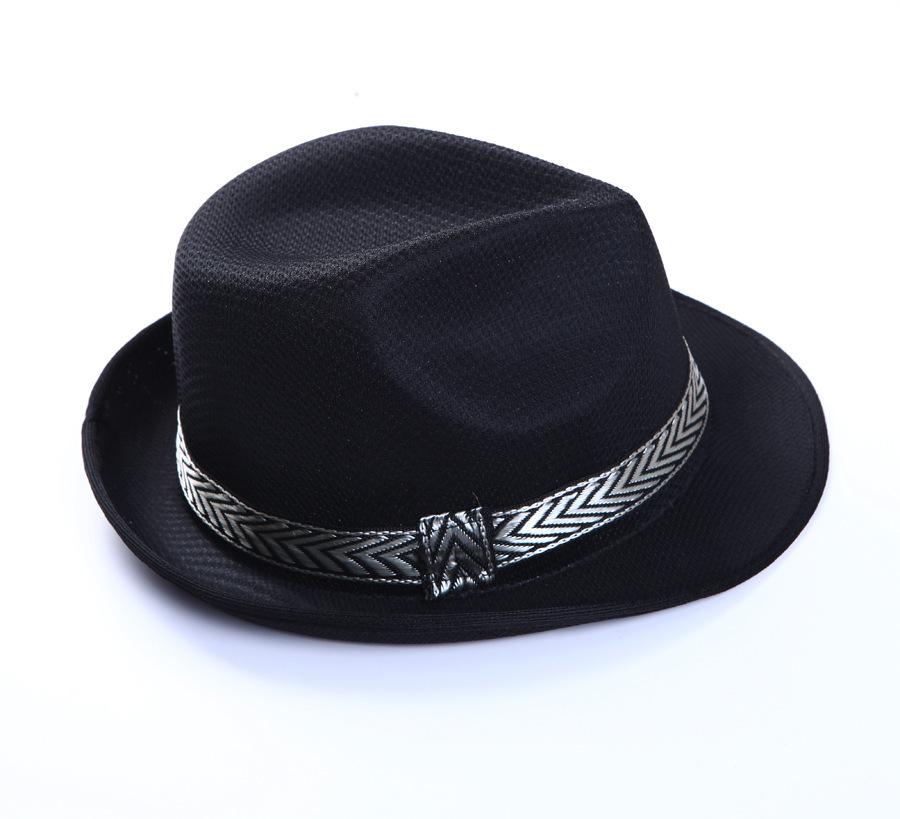 hat635-unisex-men-casual-trendy-beach-sun-straw-panama-women-jazz-hats-black-fedora-hat