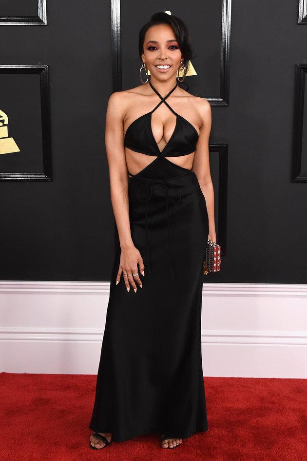 LOS ANGELES, CA - FEBRUARY 12: Singer Tinashe attends The 59th GRAMMY Awards at STAPLES Center on February 12, 2017 in Los Angeles, California. (Photo by Jon Kopaloff/FilmMagic)