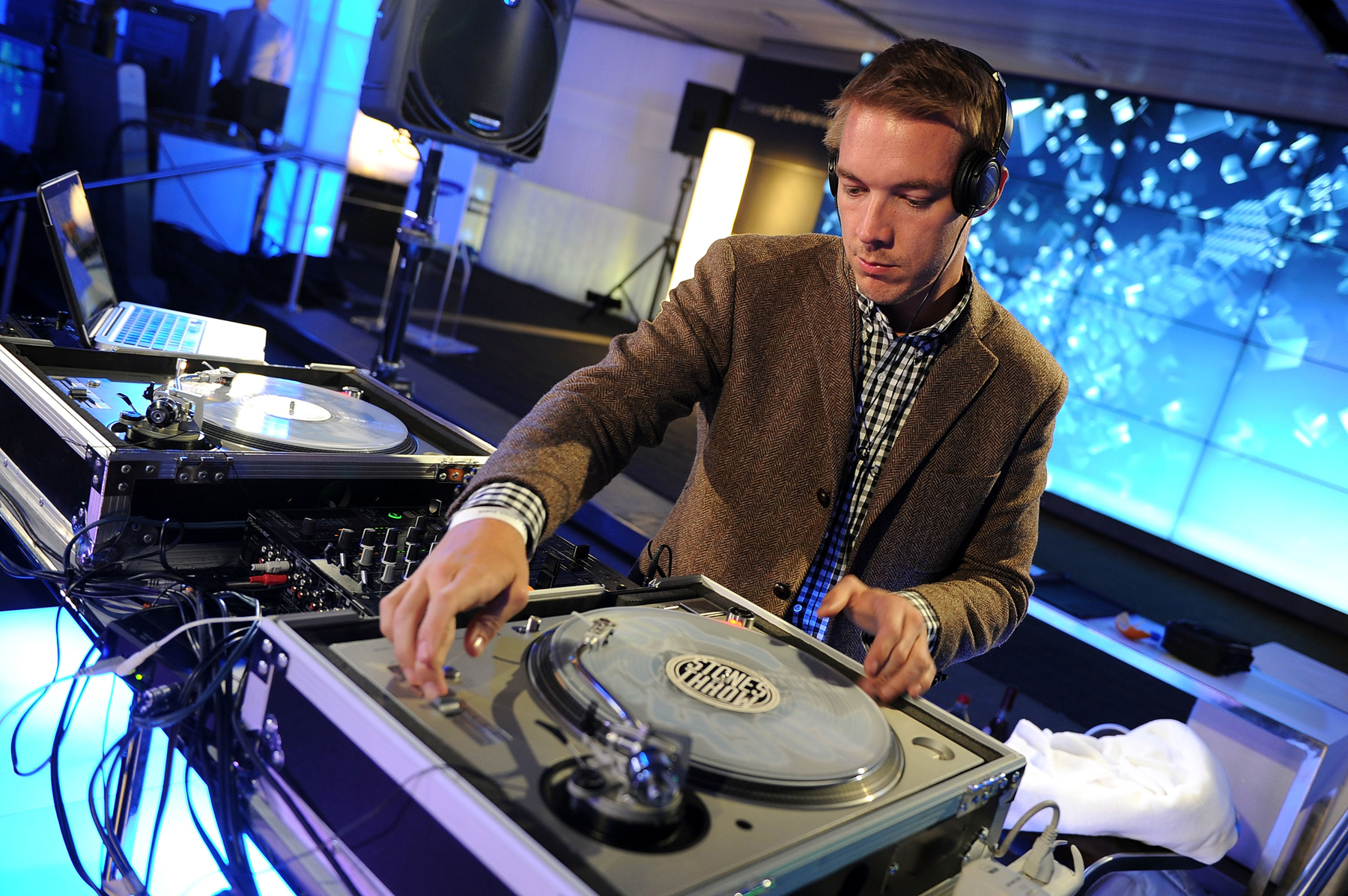NEW YORK - MARCH 10:  DJ Diplo attends the Samsung 3D LED TV launch party with THE BLACK EYED PEAS at Time Warner Center on March 10, 2010 in New York City.  (Photo by Theo Wargo/Getty Images for Samsung) *** Local Caption *** DJ Diplo