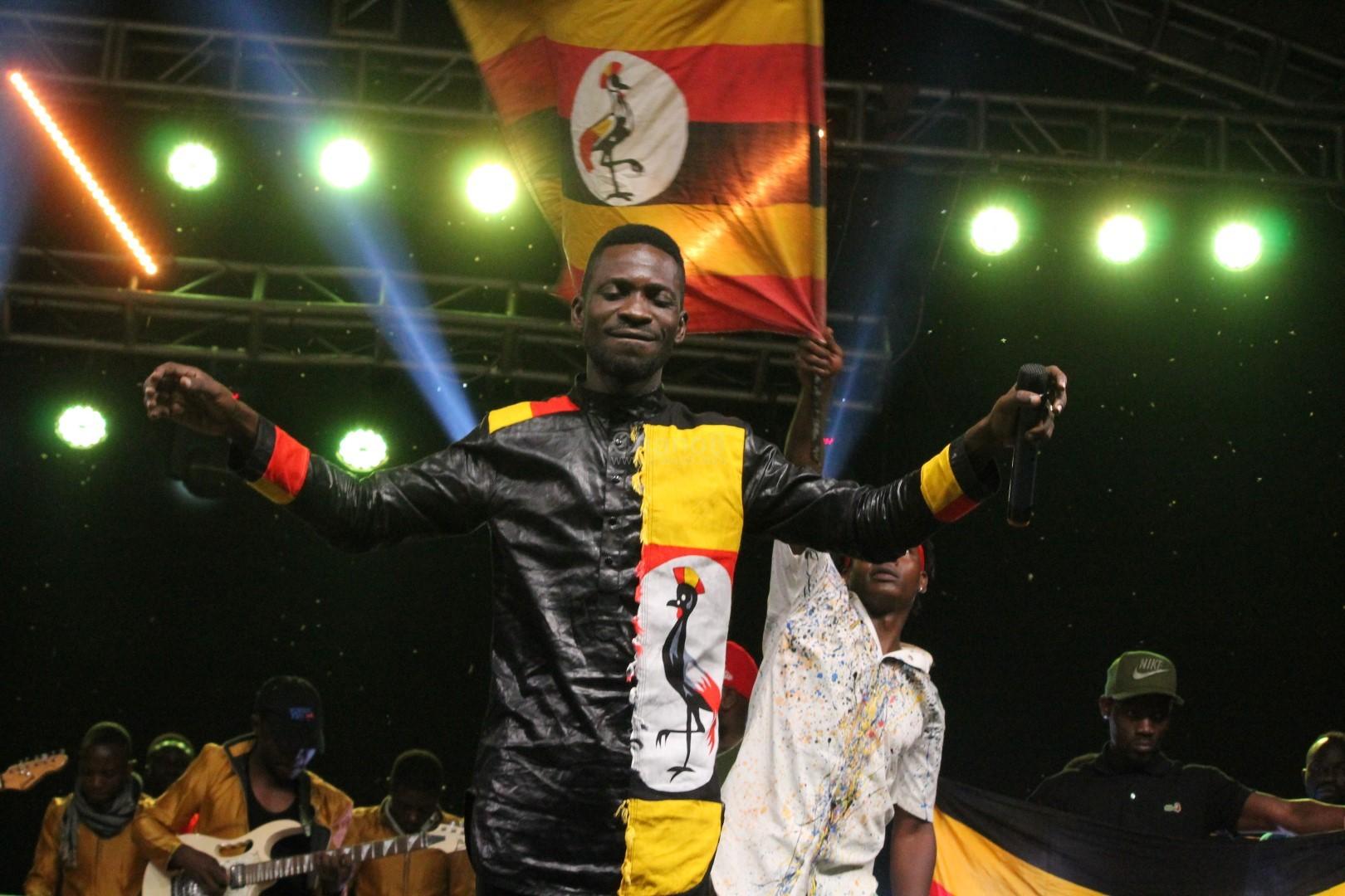 Bobi Wine performing at Specioza Live concert