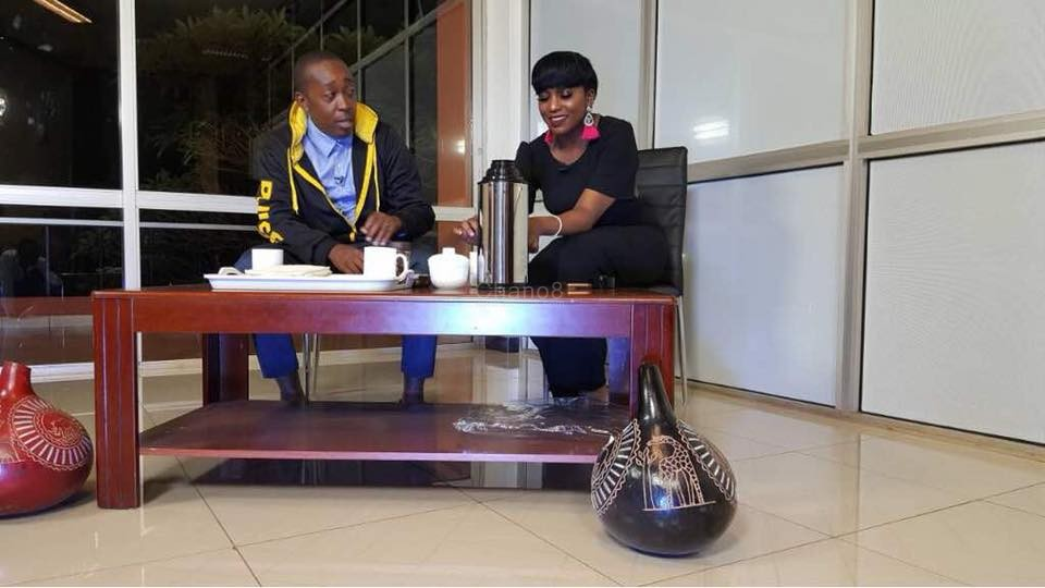 Irene Ntale on Spark TV's Koona show hosted by Miles Rwamiti