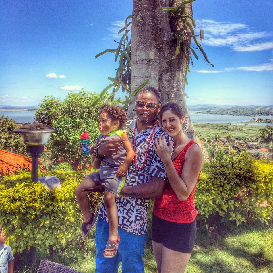 Pallaso with wife and child