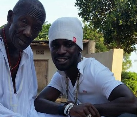 Bobi wine with his late father.