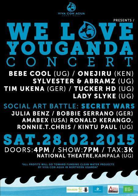 Event poster where Bebe Cool is the headliner