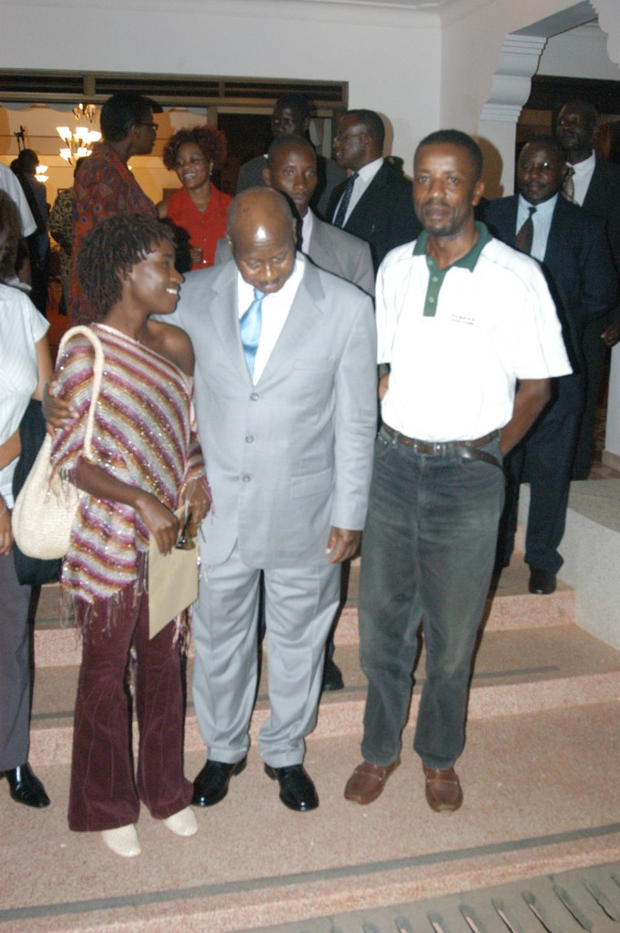 President Museveni listens to Juliana.