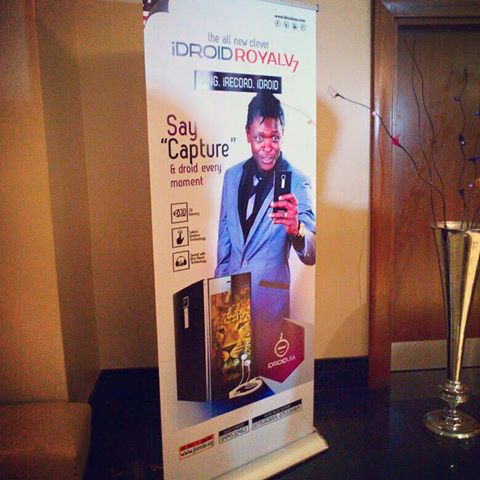 Jose Chameleone poster for the Idroid phone promotion.