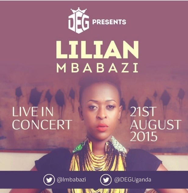 Official poster for the Lillian Mbabazi Live In Concert