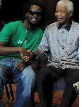 Bebe Cool with Nelson Mandela a few years before he passed away