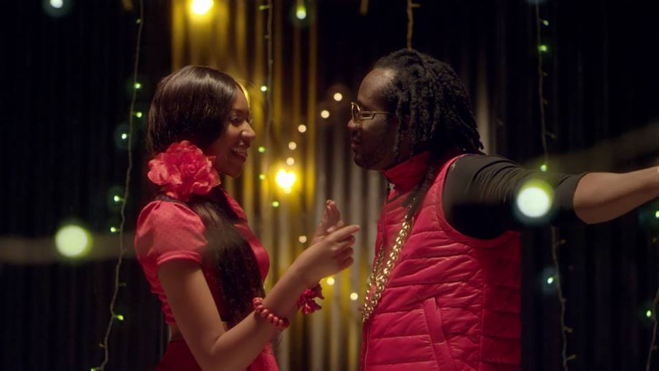Bebe Cool on set of his everywhere I go song