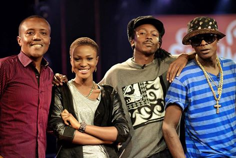 Jose Chameleone with other artistes who will star in the new season