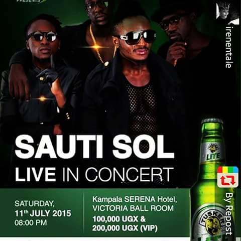 Sauti Sol show to take place next month.
