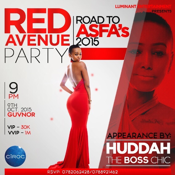 Huddah will be one of the many guests who will headline the events.