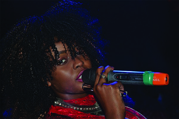 Grace Nakimera performs